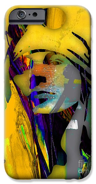 Axl Rose iPhone Cases - Axl Rose Collection iPhone Case by Marvin Blaine