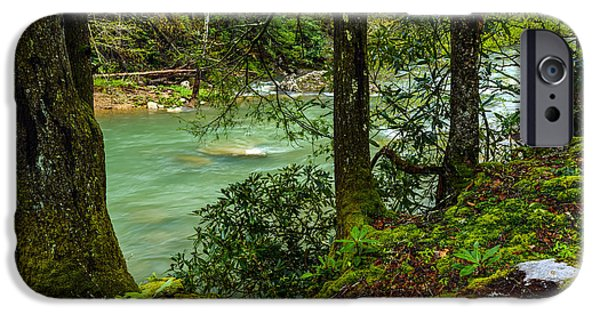 West Fork iPhone Cases - Back Fork of Elk River iPhone Case by Thomas R Fletcher