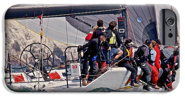 Boat iPhone Cases - Bay Rolex Regatta iPhone Case by Steven Lapkin