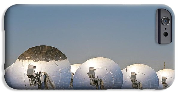 Electrical Equipment iPhone Cases - Concentrating Solar Power Plant iPhone Case by David Nunuk