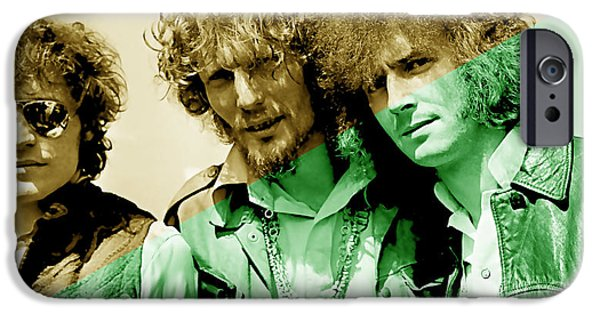 Cream iPhone Cases - Cream Eric Clapton Jack Bruce Ginger Baker iPhone Case by Marvin Blaine