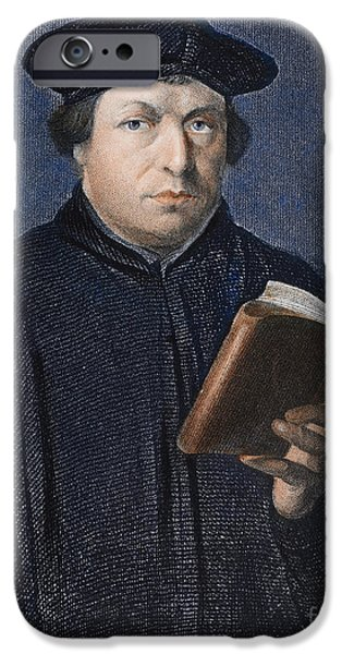 Reformer iPhone Cases - Martin Luther (1483-1546) iPhone Case by Granger