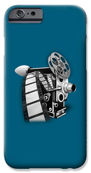 Vintage iPhone Cases - Movie Room Decor Collection iPhone Case by Marvin Blaine