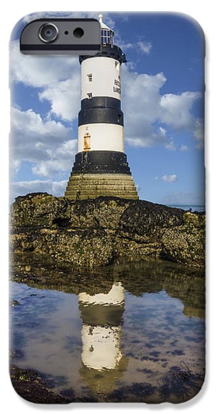 Marine iPhone Cases - Penmon Lighthouse iPhone Case by Ian Mitchell