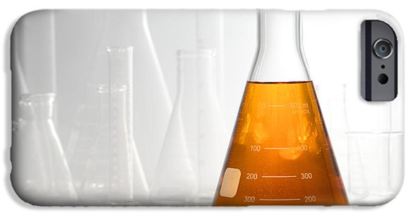 Diffusion iPhone Cases - Scientific Experiment in Science Research Lab iPhone Case by Olivier Le Queinec