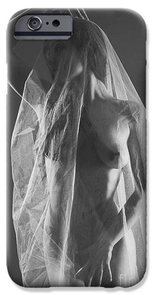 Pleasure iPhone Cases - Sheer Nude Art iPhone Case by Jt PhotoDesign