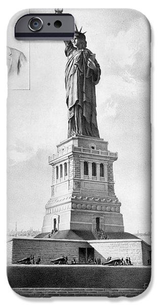 Statue Portrait iPhone Cases - Statue Of Liberty, 1886 iPhone Case by Granger