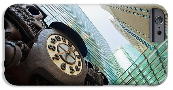 Tile Composition iPhone Cases - Tokyo Buildings iPhone Case by Bill Brennan - Printscapes