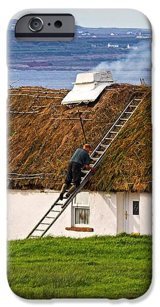 Traditional Thatch roof cottage Ireland iPhone Case by Pierre Leclerc Photography