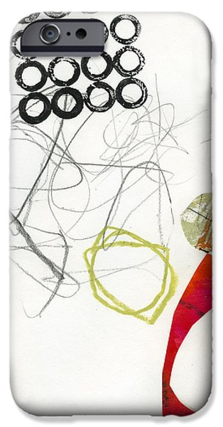 Abstract Drawing iPhone Cases - 76/100 iPhone Case by Jane Davies