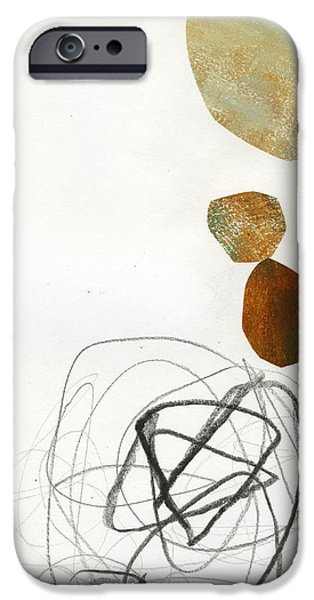 Drawing Paintings iPhone Cases - 78/100 iPhone Case by Jane Davies