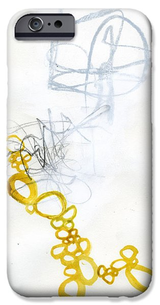 Drawing Paintings iPhone Cases - 79/100 iPhone Case by Jane Davies