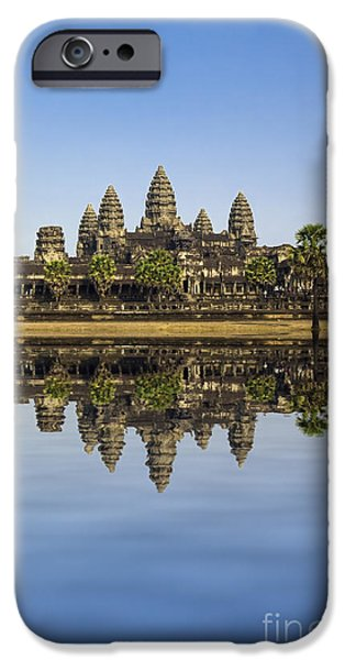 Buddhism iPhone Cases - Angkor wat iPhone Case by MotHaiBaPhoto Prints