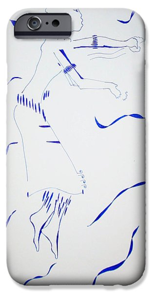 Jesus Drawings iPhone Cases - Bakiga Dance - Uganda iPhone Case by Gloria Ssali