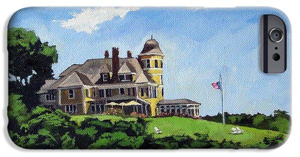 Sand Castles iPhone Cases - Castle Hill Inn Newport Rhode Island iPhone Case by Christine Hopkins