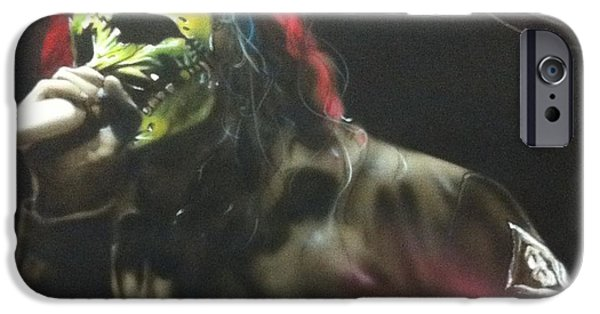 Heavy Metal Paintings iPhone Cases - #8 iPhone Case by Christian Chapman Art