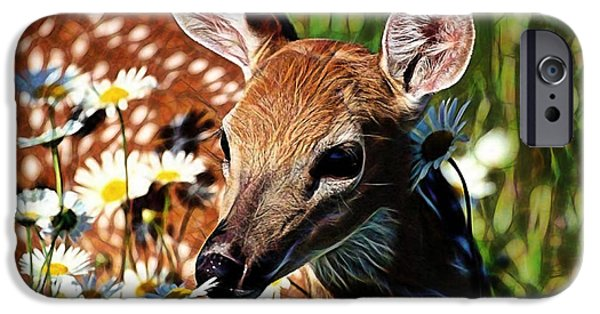 Snow iPhone Cases - Deer iPhone Case by Marvin Blaine