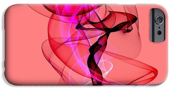 Abstract Paintings iPhone Cases - Forever flowing love......... iPhone Case by Sir Josef  Putsche