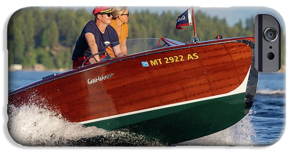 Boat iPhone Cases - Gar Wood Classic iPhone Case by Steven Lapkin