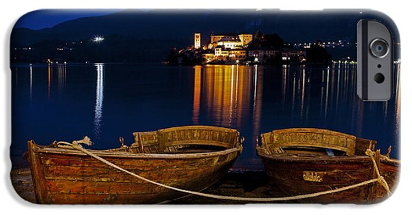 Boat House iPhone Cases - Island of San Giulio iPhone Case by Joana Kruse
