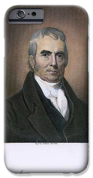 JOHN MARSHALL (1755-1835) iPhone Case by Granger