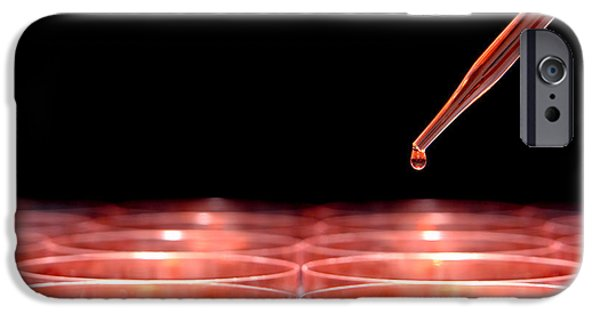 Biology iPhone Cases - Laboratory Experiment in Science Research Lab iPhone Case by Olivier Le Queinec