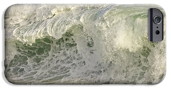 Maine Shore iPhone Cases - Large Waves Near Pemaquid Point On The Coast Of Maine iPhone Case by Keith Webber Jr