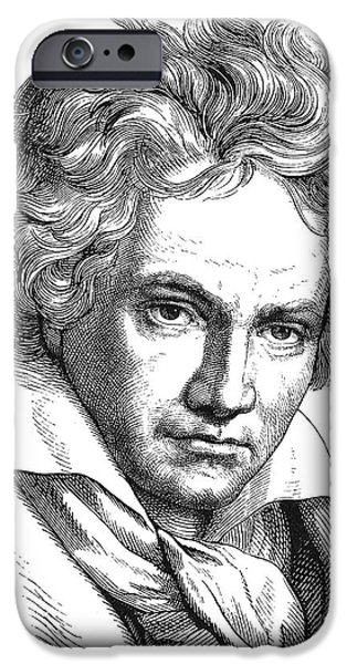 18th iPhone Cases - LUDWIG van BEETHOVEN iPhone Case by Granger