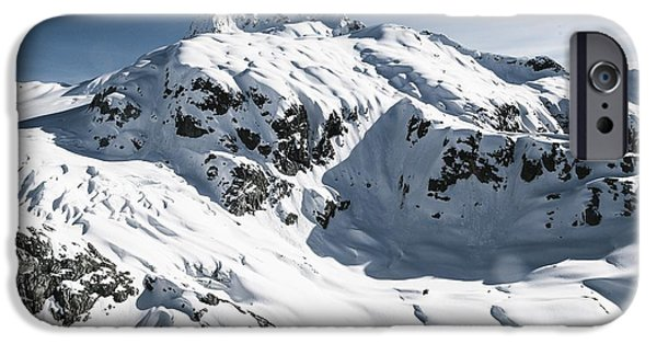 Snowy Day iPhone Cases - Mountains iPhone Case by FL collection