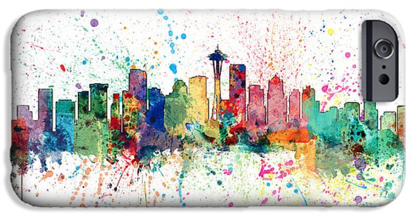 Recently Sold -  - United iPhone Cases - Seattle Washington Skyline iPhone Case by Michael Tompsett