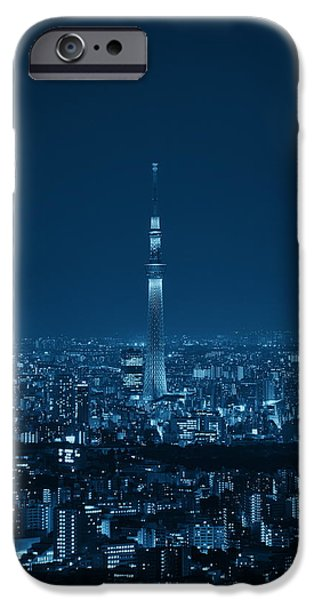 Building iPhone Cases - Tokyo rooftop iPhone Case by Songquan Deng