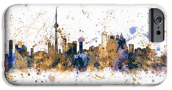 Toronto iPhone Cases - Toronto Canada Skyline iPhone Case by Michael Tompsett