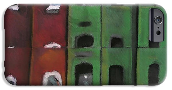 Buildings Mixed Media iPhone Cases - #8 U Street iPhone Case by Alison Poland