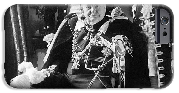 1950s Portraits iPhone Cases - Winston Churchill iPhone Case by Granger