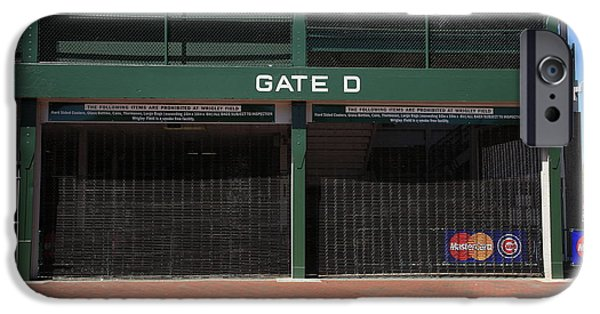 Wrigley iPhone Cases - Wrigley Field - Chicago Cubs iPhone Case by Frank Romeo