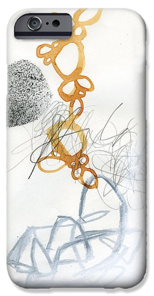 Abstract Drawing iPhone Cases - 80/100 iPhone Case by Jane Davies