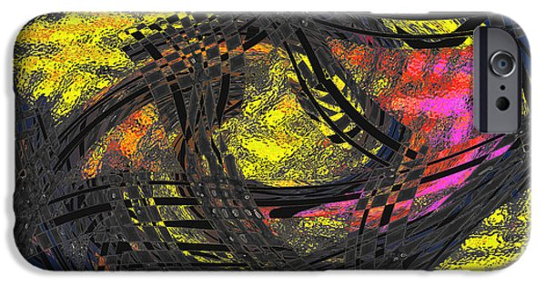 Colorful Abstract iPhone Cases - 82915 iPhone Case by Tom Hubbard
