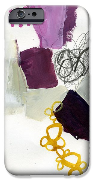 Abstract Drawing iPhone Cases - 83/100 iPhone Case by Jane Davies