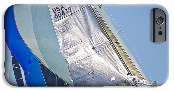 Sailboats iPhone Cases - Key West Race Week iPhone Case by Steven Lapkin