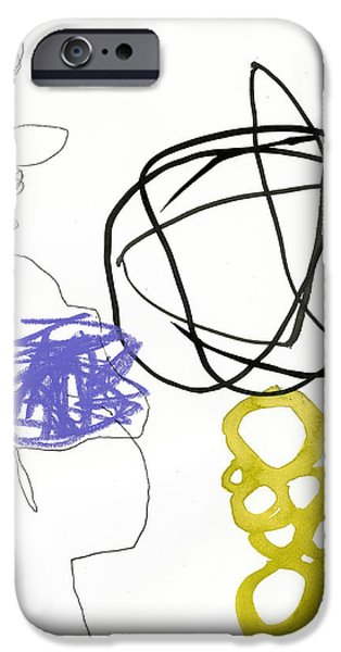 Abstract Drawing iPhone Cases - 84/100 iPhone Case by Jane Davies