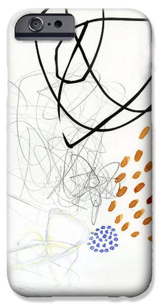 Abstract Drawing iPhone Cases - 85/100 iPhone Case by Jane Davies