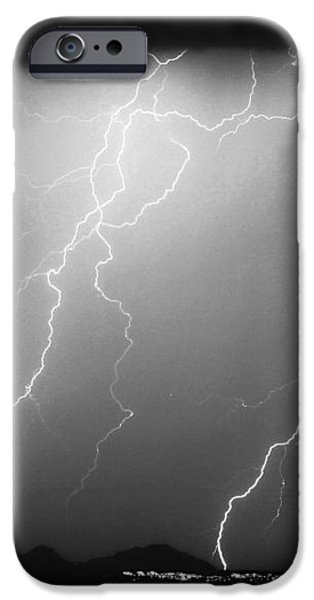 85255 Black and White iPhone Case by James BO  Insogna