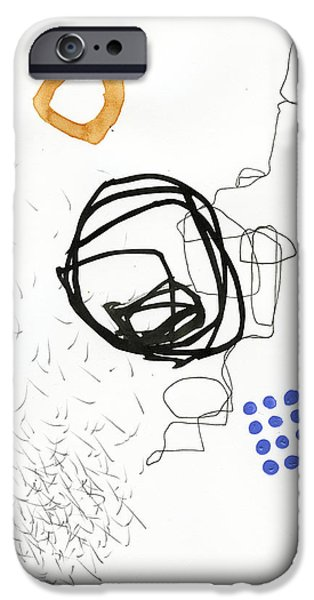 Drawing Paintings iPhone Cases - 86/100 iPhone Case by Jane Davies