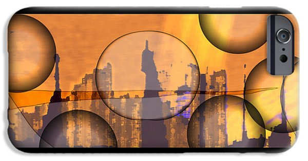 Abstract Digital Drawings iPhone Cases - 8659f2 iPhone Case by Mickey Harris