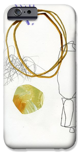 Drawing Paintings iPhone Cases - 87/100 iPhone Case by Jane Davies