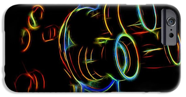 1950s Movies iPhone Cases - 8mm in Neon iPhone Case by Mark Miller