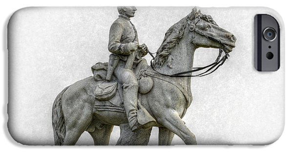 Year Of The Horse iPhone Cases - 8th Pennsylvania Cavalry Gettysburg iPhone Case by Randy Steele