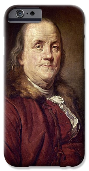 BENJAMIN FRANKLIN (1706-1790) iPhone Case by Granger
