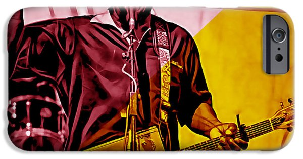 Cool Art iPhone Cases - Bo Diddley Collection iPhone Case by Marvin Blaine