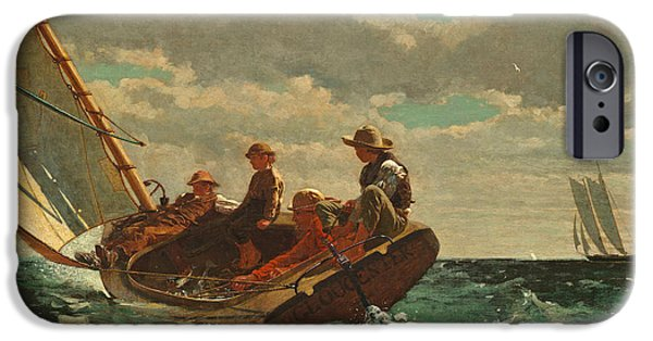 Recently Sold -  - Sea iPhone Cases - Breezing Up iPhone Case by Winslow Homer